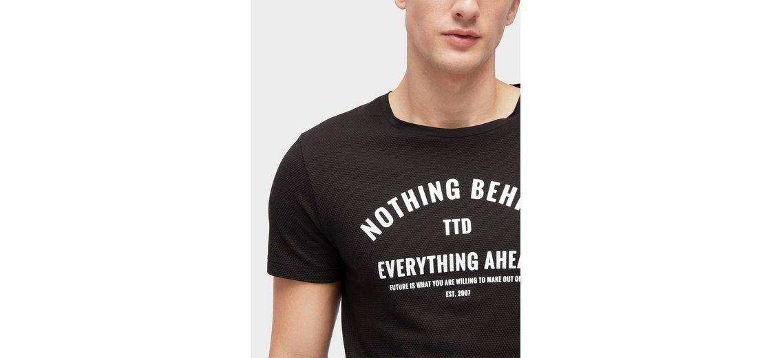 Freies Verschiffen Nicekicks Tom Tailor Denim T-Shirt T-Shirt mit Schriftzug Verkauf Versorgung Unisex NdW8o
