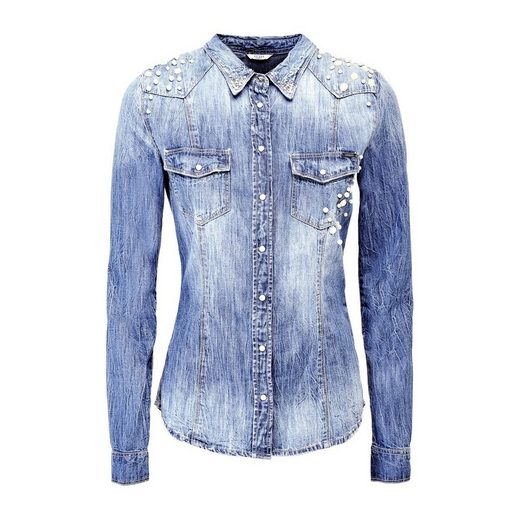 Guess JEANSBLUSE PERLEN