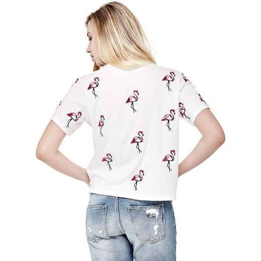 Guess T-SHIRT FLAMINGO-MOTIV