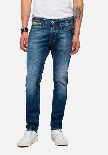 Replay 5-Pocket-Jeans ANBASS COIN ZIP, heller Zipper