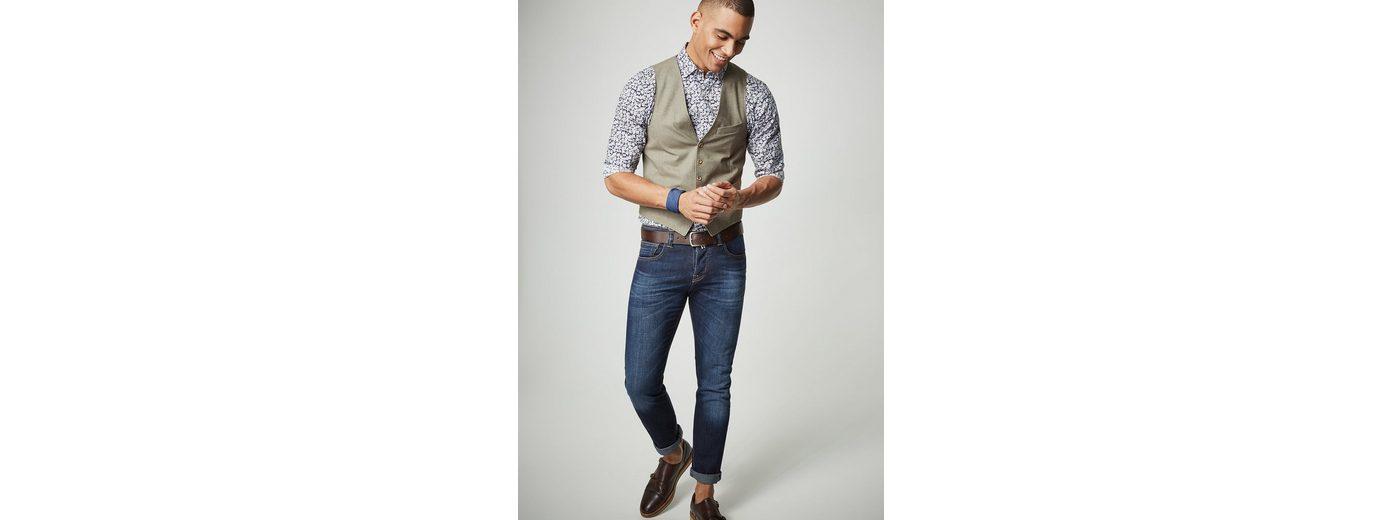 PIERRE CARDIN Hemd mit Flower-Print - Slim Fit Billig Online-Shop Manchester UTKJtnajn