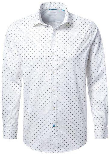 Pierre Cardin Shirt With Football Print, Kent Collar - Shaped Fit Future Flex