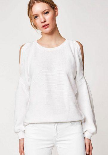HALLHUBER Cold-Shoulder-Pullover