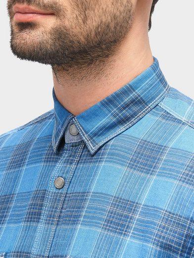 Tom Tailor Hemd kariertes Hemd mit Brusttaschen