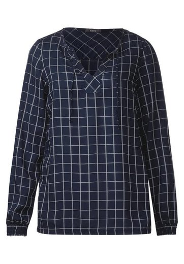 CECIL Gitter Muster Tunika Bluse