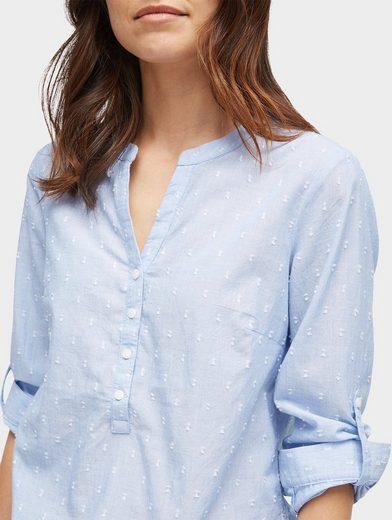 Tom Tailor Langarmbluse gemustertes Blusen-Shirt