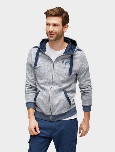 Tom Tailor Sweatjacke Sweatjacke in Melange-Optik