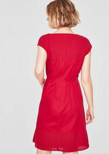 s.Oliver RED LABEL Kleid mit Lochspitze