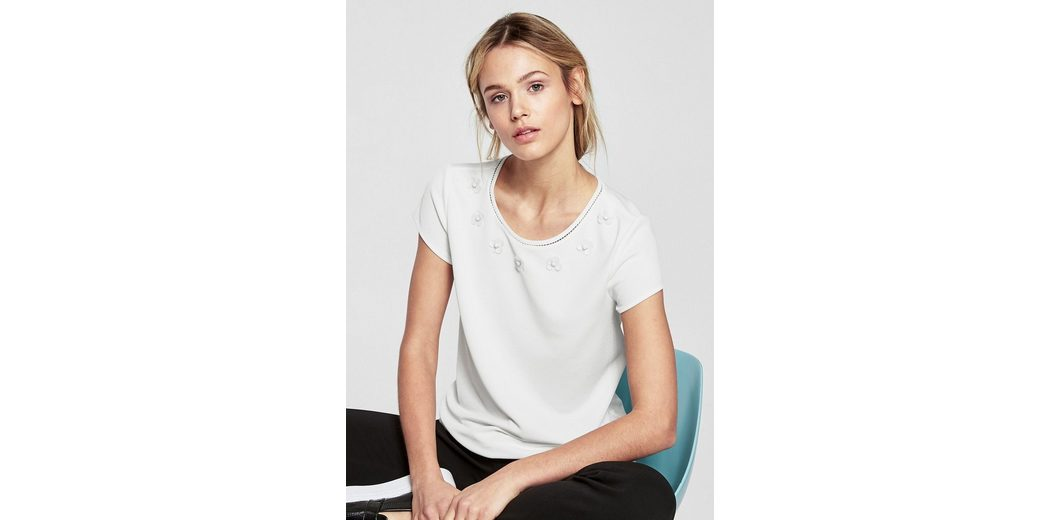 Kaufen Sie Günstig Online Preis s.Oliver BLACK LABEL Shirt mit Blüten-Applikationen Billig 2018 Neueste Bestes Geschäft Zu Erhalten Online-Verkauf Sast Günstiger Preis QOZxA
