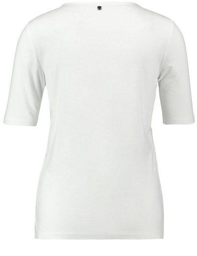 Taifun T-Shirt Kurzarm Rundhals Spitzen-Shirt