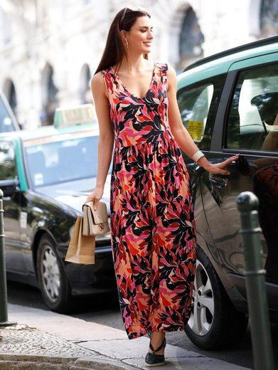 Sara Lindholm by Happy Size Jersey-Maxikleid mit Blumen-Print