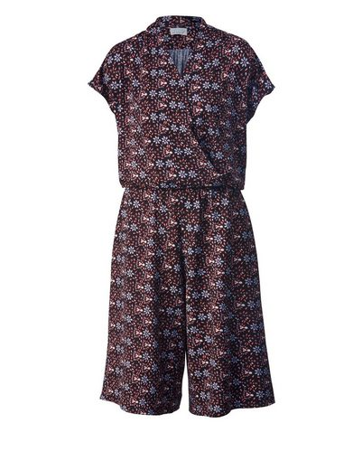 Angel of Style by Happy Size Jersey-Jumpsuit mit Allover-Print