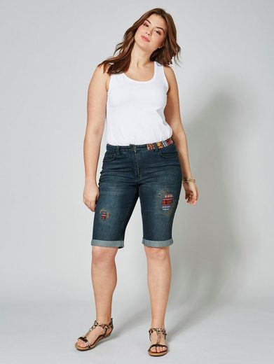 Angel of Style by Happy Size Jeans-Shorts