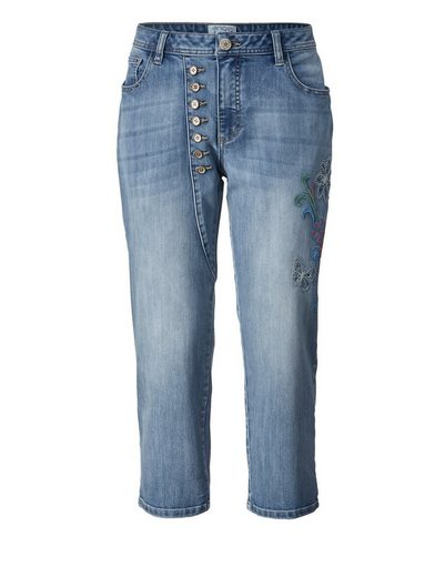 Angel Of Style By Happy Size 7/8 Slim Fit Jeans Mit Stickerei