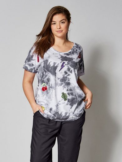Angel of Style by Happy Size Shirt in Oversize-Form mit Patches