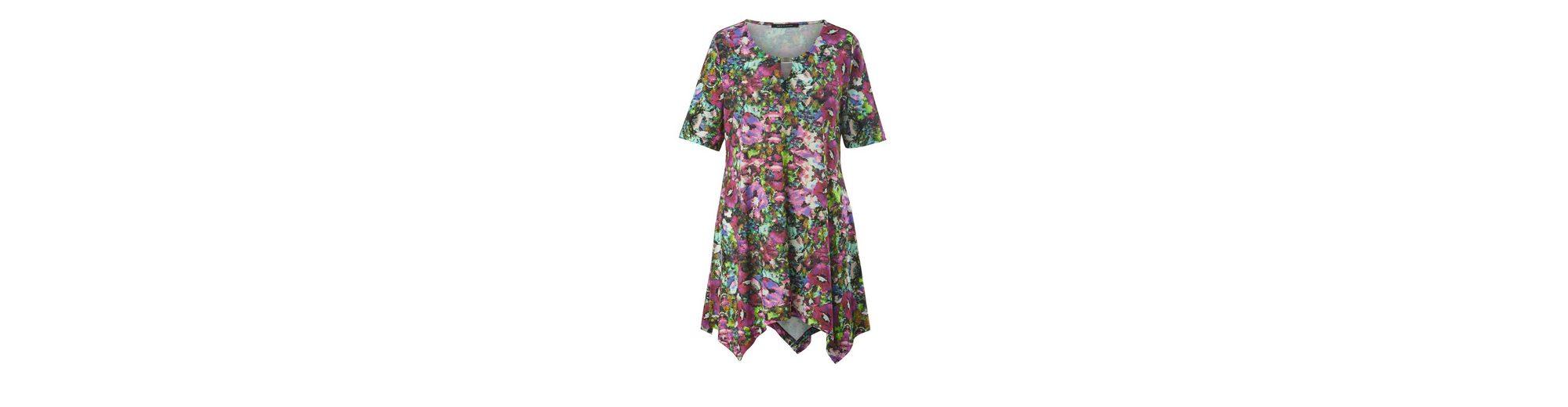 Sara Lindholm by Happy Size Jersey-Tunika mit Zipfelsaum Extrem Zum Verkauf YrLQsb31br