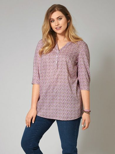 Janet Und Joyce City Happy Oversize Blouse My Allover Print