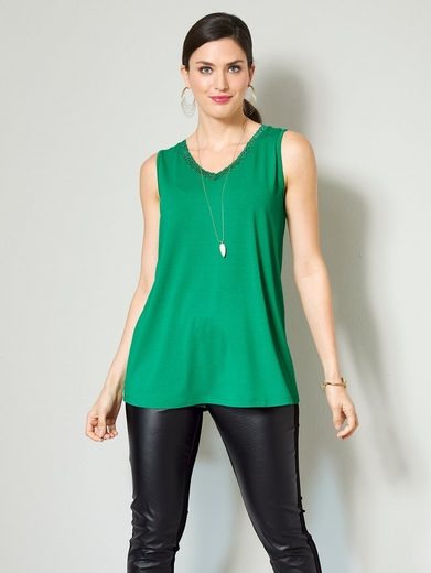 Sara Lindholm by Happy Size Top mit Spitze