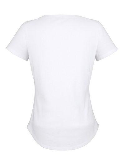 Amy Vermont Shirt mit Glitzerdruck