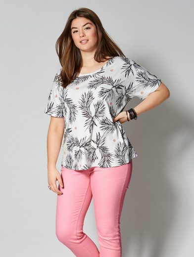 Angel of Style by Happy Size Shirt in Oversize-Form mit Allover-Print
