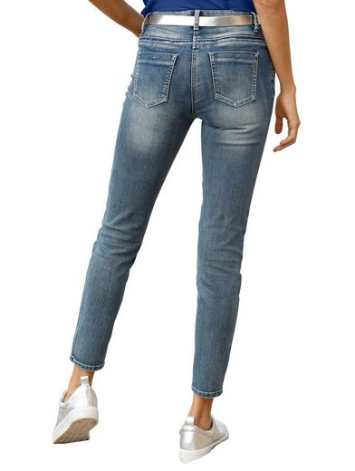 Amy Vermont Jeans mit Pailletten- und Strassdekoration