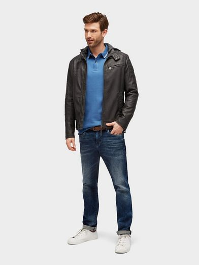 Tom Tailor Langarmshirt Langarm-Poloshirt mit Muster