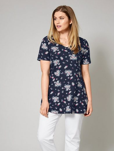 Janet And Joyce By Happy Size Shirt With Floral-print
