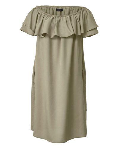 Sara Lindholm by Happy Size Kleid mit Carmen-Ausschnitt und Volant