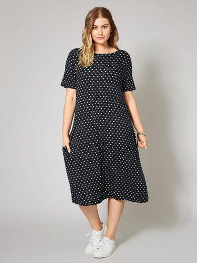 Janet und Joyce by Happy Size Jersey-Kleid mit Allover-Print