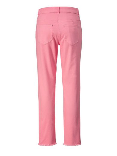 Angel of Style by Happy Size Slim Fit Jeans knöchellang mit Fransen