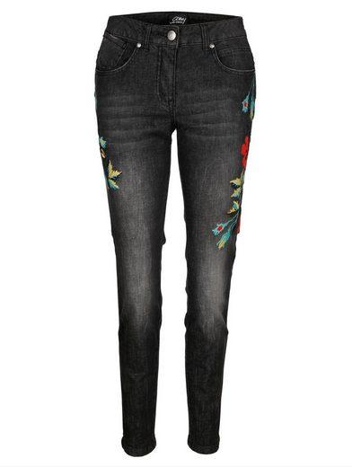 Amy Vermont Jeans mit seitlicher Stickerei