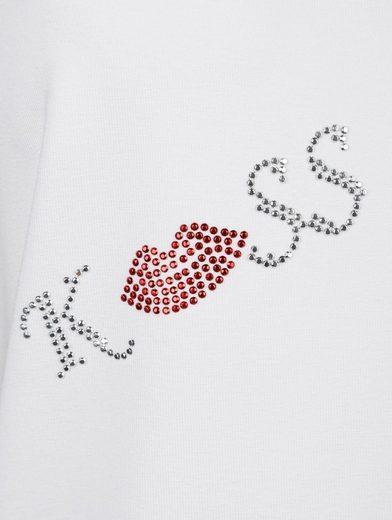Amy Vermont Shirt mit dekorativen Steinchenmotiven