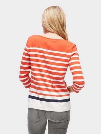 Tom Tailor 3/4-Arm-Shirt mit Streifen-Muster