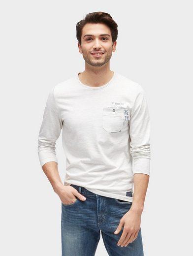 Tom Tailor Langarmshirt Langarmshirt In Melange Optic