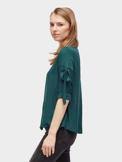 Tom Tailor Denim Shirtbluse Bluse mit Schleifen-Details