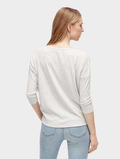 Tom Tailor Denim 3/4-Arm-Shirt Langarmshirt mit Struktur