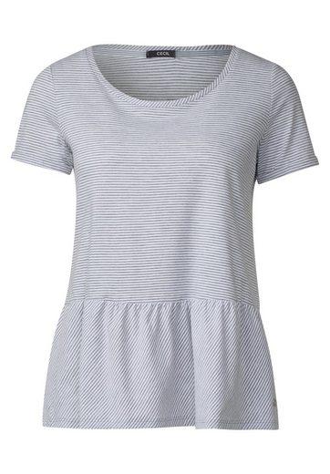 CECIL Streifen Shirt mit Volant