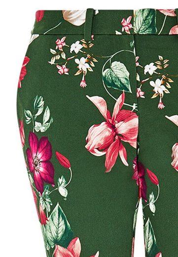 HALLHUBER Zigarettenhose mit Blumendruck