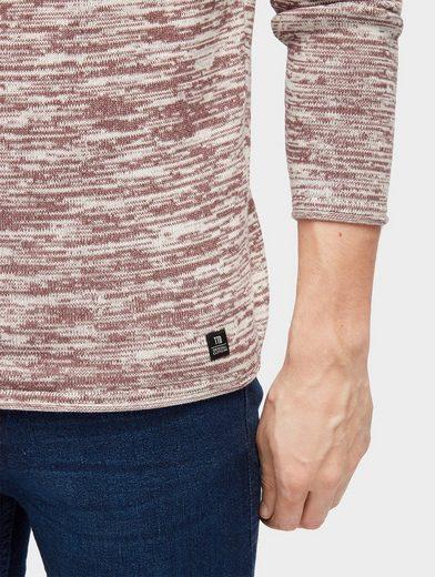 Tom Tailor Denim Strickpullover Pullover in Melange-Optik