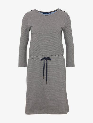 Tom Tailor Jerseykleid gestreiftes Kleid mit Schnürung