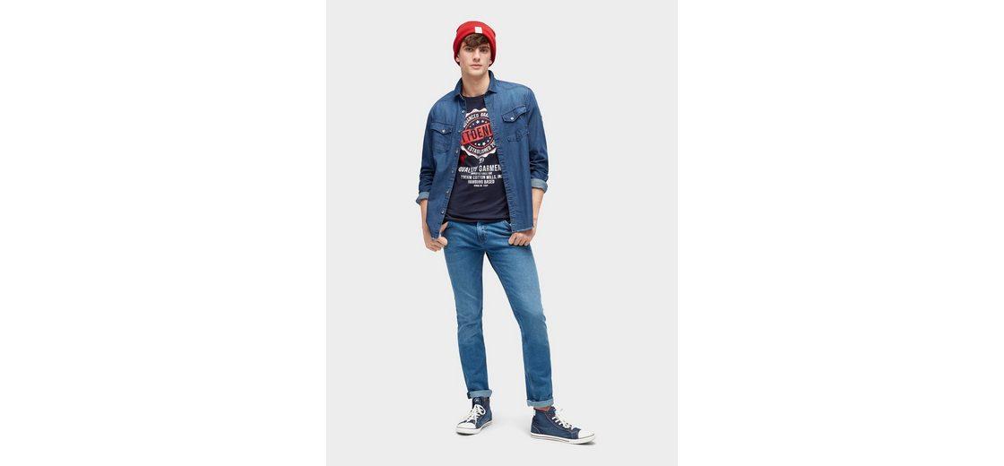 Tom Tailor Denim T-Shirt T-Shirt mit Logo-Print Kaufen Günstig Online Schlussverkauf Billig Verkauf Rabatt zqZOPUmW
