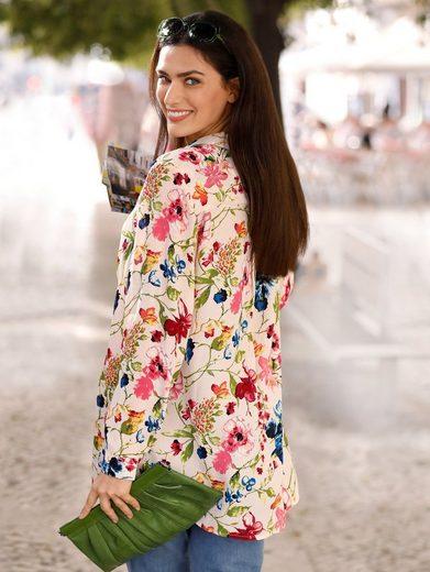 Sara Lindholm by Happy Size Longbluse mit Blumen-Print