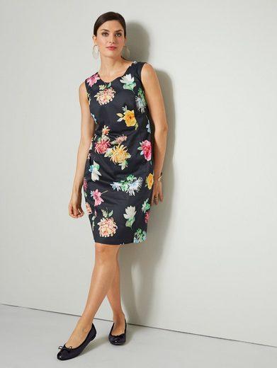 Sara Lindholm by Happy Size Etui-Kleid mit Blumen-Print