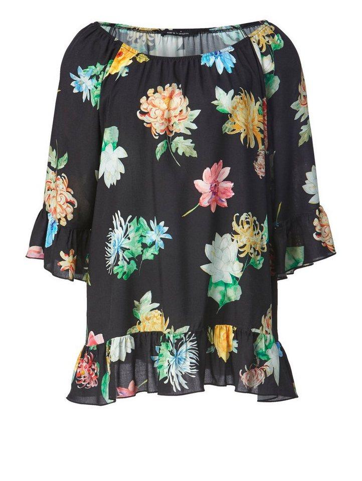 Sara Lindholm by Happy Size Carmen-Bluse mit Volants online kaufen ... 411873b20f