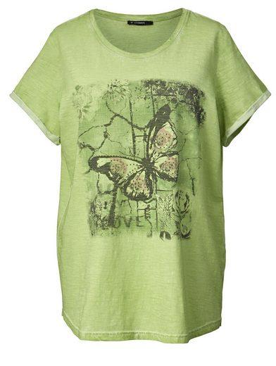 Janet und Joyce by Happy Size Shirt oil wash mit Frontprint