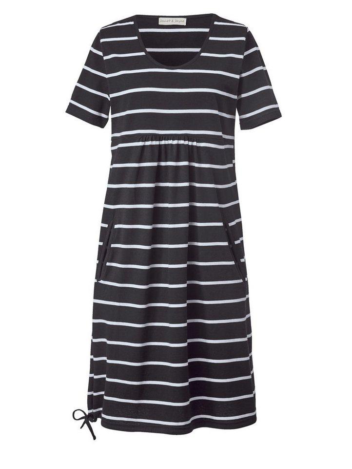Kleid gestreift schwarz