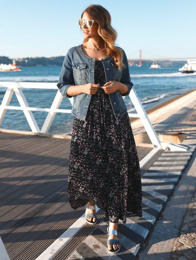 Janet And Joyce By Happy Size Jersey Maxi Dress With Floral-print