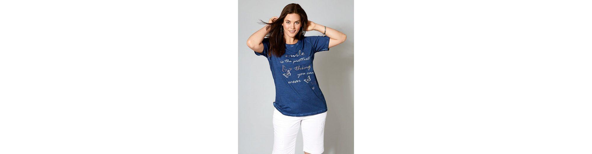 Offizielle Seite Verkauf Online Janet und Joyce by Happy Size Shirt oil wash mit Pailletten Neuesten Kollektionen Günstig Online Günstiger Online-Shop Günstig Kaufen Mit Mastercard Limitierte Auflage Online-Verkauf 1KLgEYiM