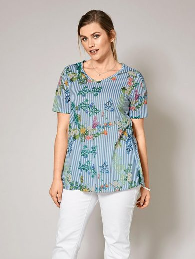 Janet und Joyce by Happy Size Shirt gestreift