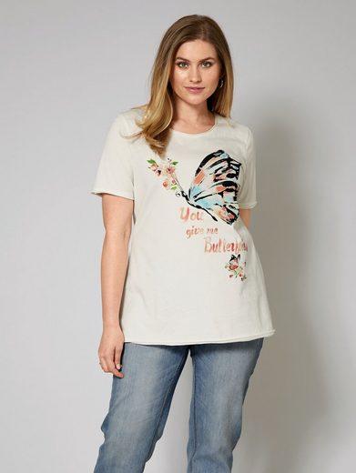 Janet und Joyce by Happy Size Shirt mit Frontprint